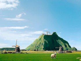 """Una de las imágenes que la campaña """"Die Berg Komt er"""" (La montaña vendrá) usa para promocionarse."""