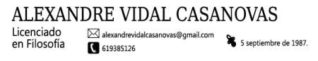 Alexandre Vidal Casanovas