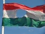 Bandera de la revolución húngara. Budapest. 2011.