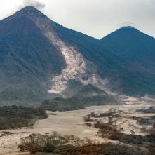 El recorrido del principal lahar